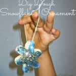 DIY: Dough Snowflake Glitter Ornaments (Christmas Craft For Kids)
