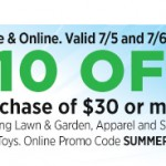 Dollar General $10 off a $30 Purchase Printable Coupon + Promo Code (7/5 and 7/6 Only)
