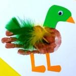 Mallard Duck Handprint Craft For Kids