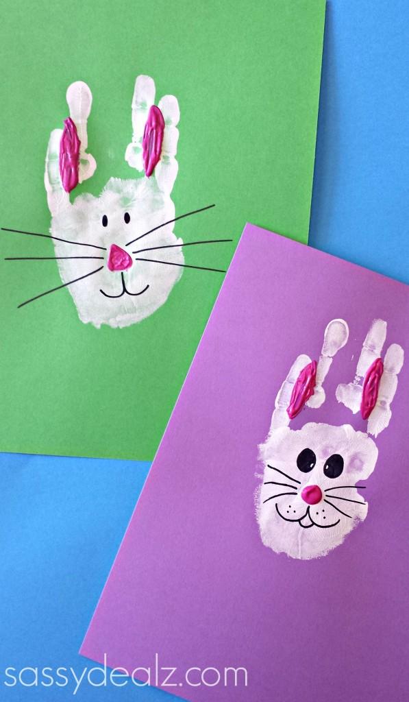 bunny handprint easter craft