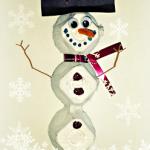 DIY Egg Carton Snowman Craft For Kids