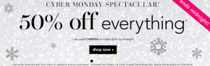 E.l.f Cosmetics: 50% Off on Orders of $30+ w/ Online Promo Code (Cyber Monday)