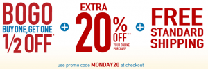 Famous Footwear: BOGO 1/2 Off + 20% Off + FREE Shipping w/ Promo Code (Cyber Monday Deal!)
