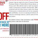 Famous Footwear: Get $5 off a $25 Purchase w/ Coupon or Promo Code (Exp 12/23)