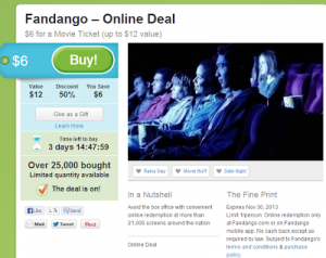 Fandango Movie Ticket 50% off! $6 on Groupon (Originally $12!) – Hurry They Are Limited!