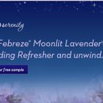 FREE Sample of Febreze Moonlit Lavender Bedding Refresher