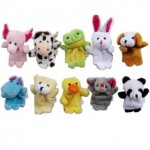 10 Velvet Animal Style Finger Puppets ONLY $5.30 Shipped!
