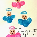 DIY Fingerprint Singing Angel Craft For Kids