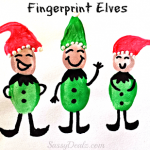 DIY Fingerprint Elf Craft For Kids at Christmas
