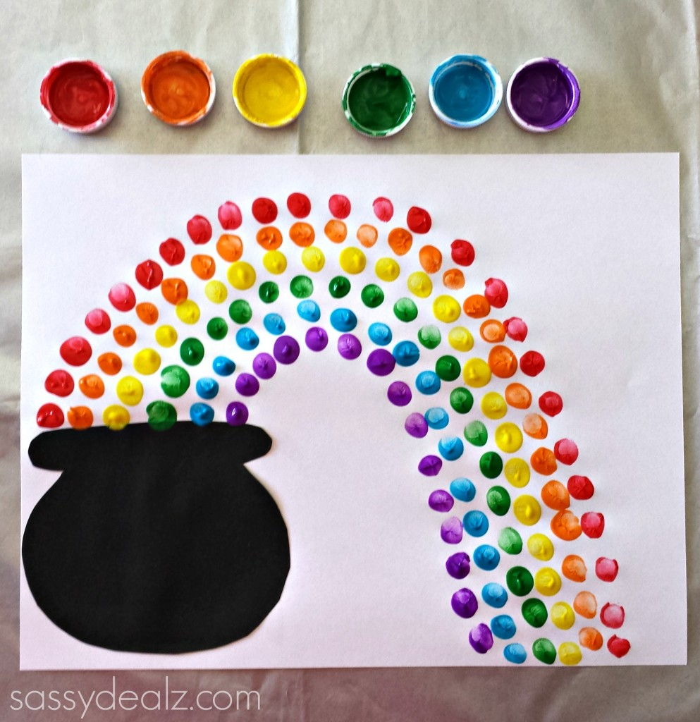 rainbow st patricks day craft