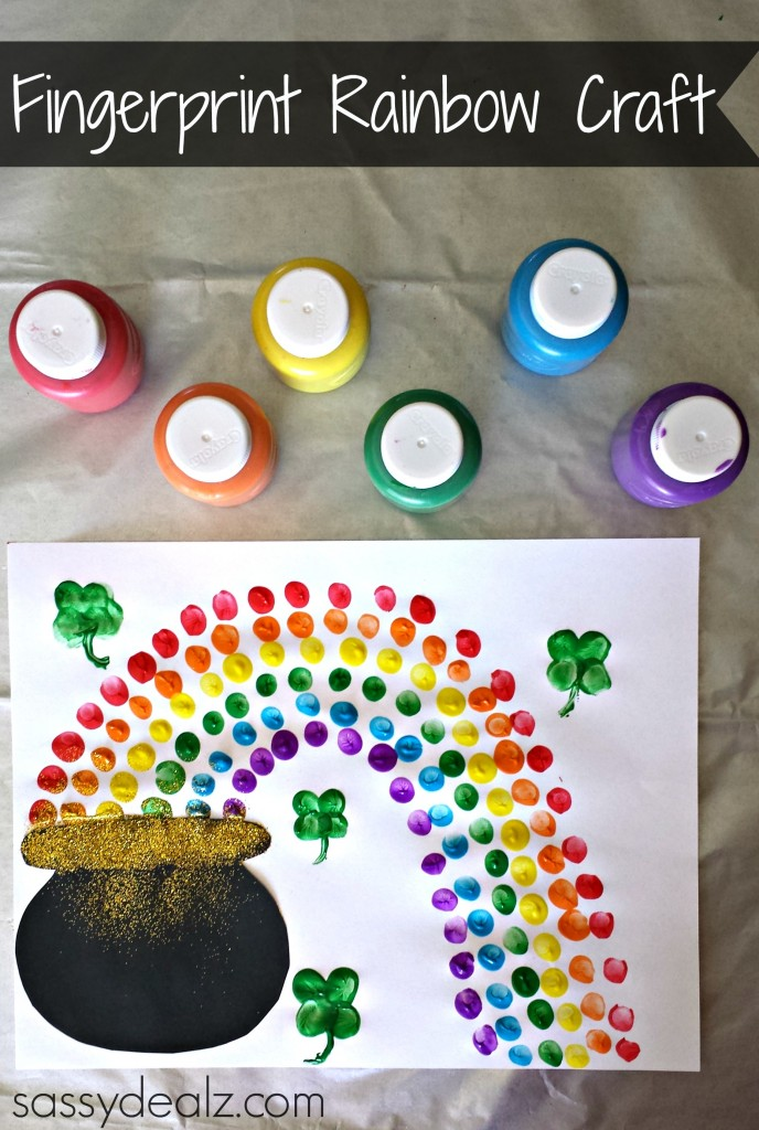 st patrick rainbow craft
