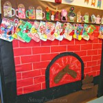 Fireplace Christmas Bulletin Board Idea For Your Classroom