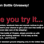 Request a FREE Sample of Vivazen (Provides Minor Muscle Relief After Exercising)