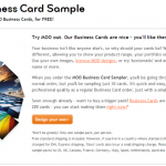 10 FREE Business Card Samples from Moo