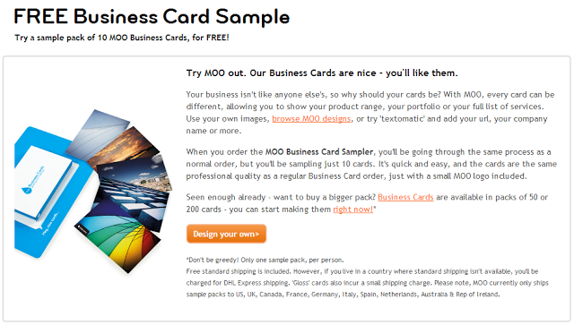 10 free business card samples from moo sassy dealz reheart Choice Image