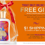 Bath & Body Works – FREE Full Size Sweet Cinnamon Pumpkin Lotion w/ Promo Code (Online Today Only!)