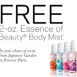 FREE Travel Size Essence of Beauty Body Mist at CVS