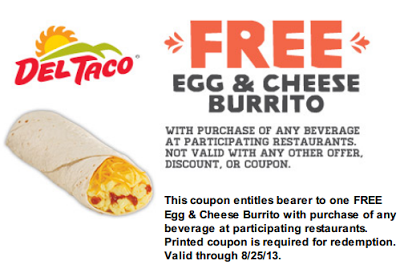 Save $$$ at Del Taco with coupons and deals like: Current Del Taco Coupons, Specials, and Promotions ~ Get 2 Free Grilled Chicken Tacos After You Join their Raving Fan eClub ~ Taco Thursday Special: 3 Grilled Chicken Tacos for only $ ~ and more >>>.