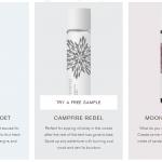 Free PinRose Perfume Samples