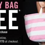 Victoria's Secret- FREE Pink Stripe Getaway Bag w/ a $75 Purchase Online Promo Code (7/30-8/4)