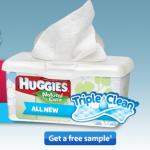 Free Sample of Huggies Triple Clean Baby Wipes