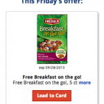 Kroger & Affiliates: Download an eCoupon for a FREE Emerald Breakfast on the Go!