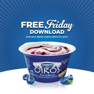 Kroger & Affiliates: Free Dannon Oikos Greek Yogurt