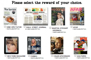 Free Magazine Subscription to Wine Spectator, Golf Week, & More!