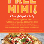 Punch Neapolitan Pizza – Get a FREE Mimi Pizza w/ Printable Coupon (TODAY ONLY- 7/24 after 5PM!)