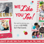 Walgreens: 20 FREE 5×7 Flat Christmas Cards + Free In-Store Pickup!