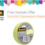 FREE Sample of Scotch Expressions Masking Tape (First 10,000!)