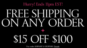 Victoria's Secret- Get FREE Shipping on ANY Order w/ Online Promo Code (Tonight ONLY 9pm-11 EST!)