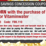 Cinemark- Get a FREE Small Popcorn w/ Purchase of Water, FUZE, or VitaminWater Printable Coupon (8/7-8/14)