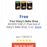 Kroger & Affiliates: Load eCoupon for a FREE Box of Stacy's Bake Shop Crisps