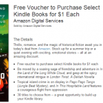 Free Voucher to Purchase Select Kindle Books for $1 Each!