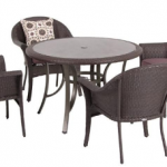 Hampton Bay Vista 5-Piece Patio Dining Set w/ Purple Cushions ONLY $149.75 + Free Shipping (Reg $599.99!)