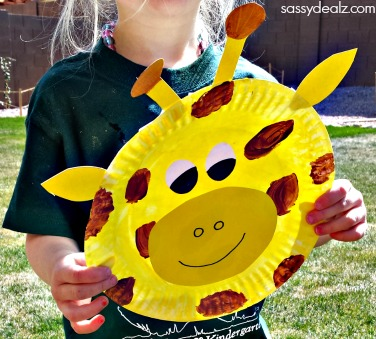 Paper Plate Giraffe Craft For Kids - Crafty Morning