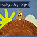 Groundhog Day Craft For Kids (Paper Plate)