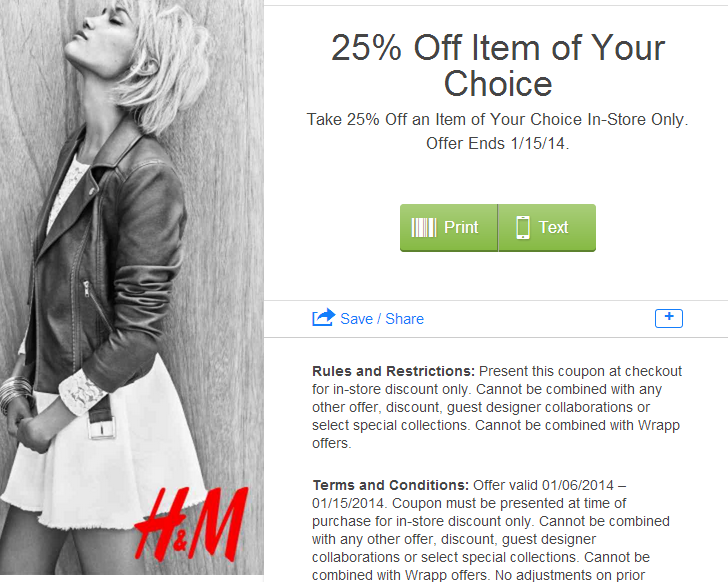 "H&M is a global leader in affordable, sustainable fashion for adults, kids and the home. Make already great deals even better when you shop with online coupons for H&M. From skinny jeans and t-shirts to suits and ties, H&M offers ""fashion and quality at the best price.""."