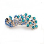 Women's Vintage Crystal Peacock Hair Clip ONLY $1.00 + Free Shipping!
