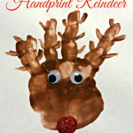Handprint Reindeer Christmas Craft For Kids (Paint Project)