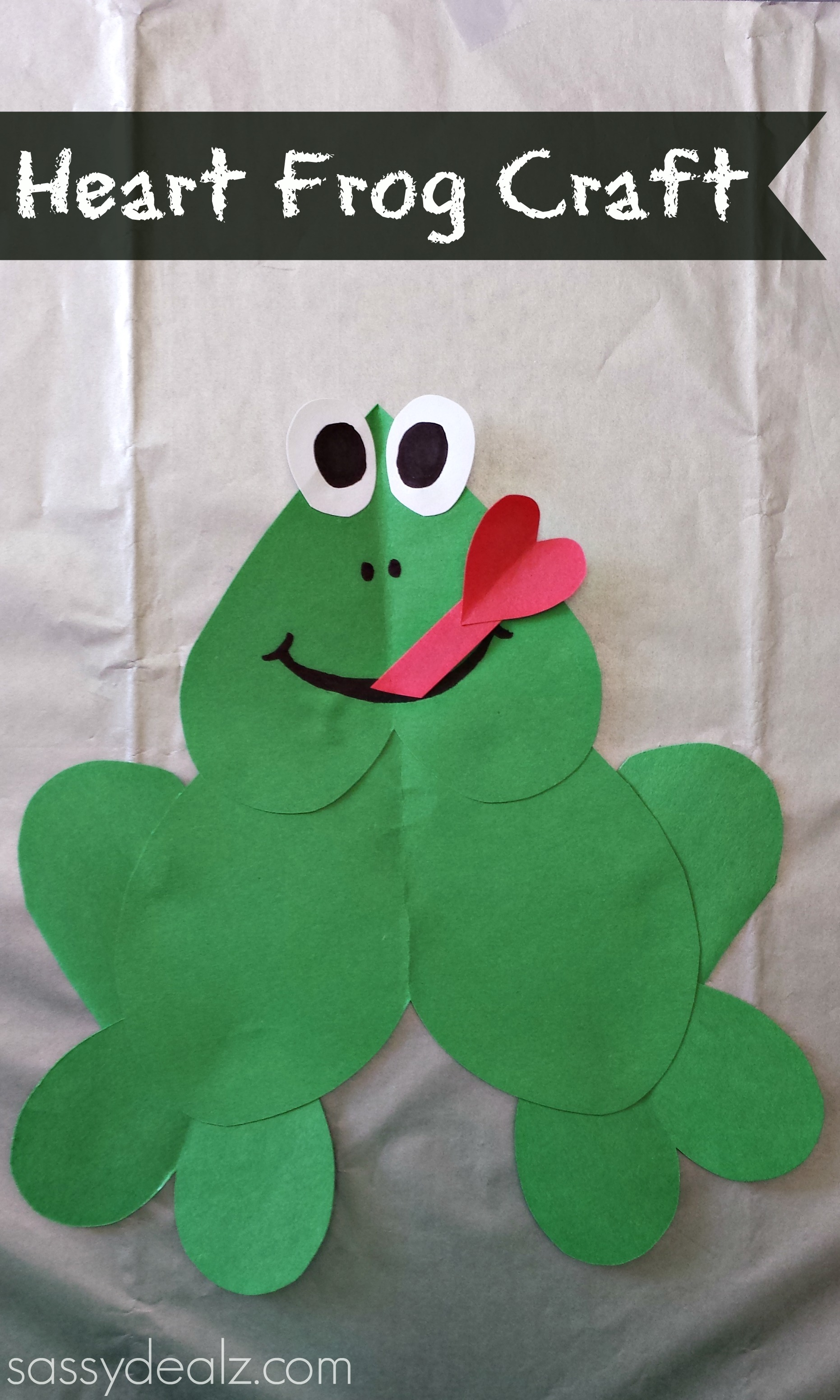 Paper Heart Frog Craft For Kids - Crafty Morning