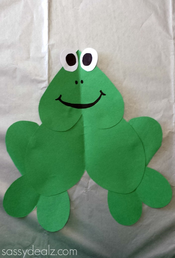 heart frog craft