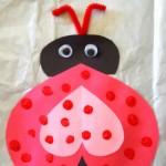 Heart Ladybug Valentines Day Craft For Kids