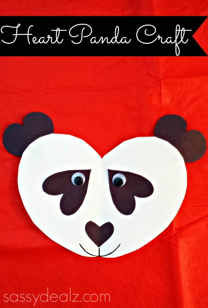 panda bear heart craft