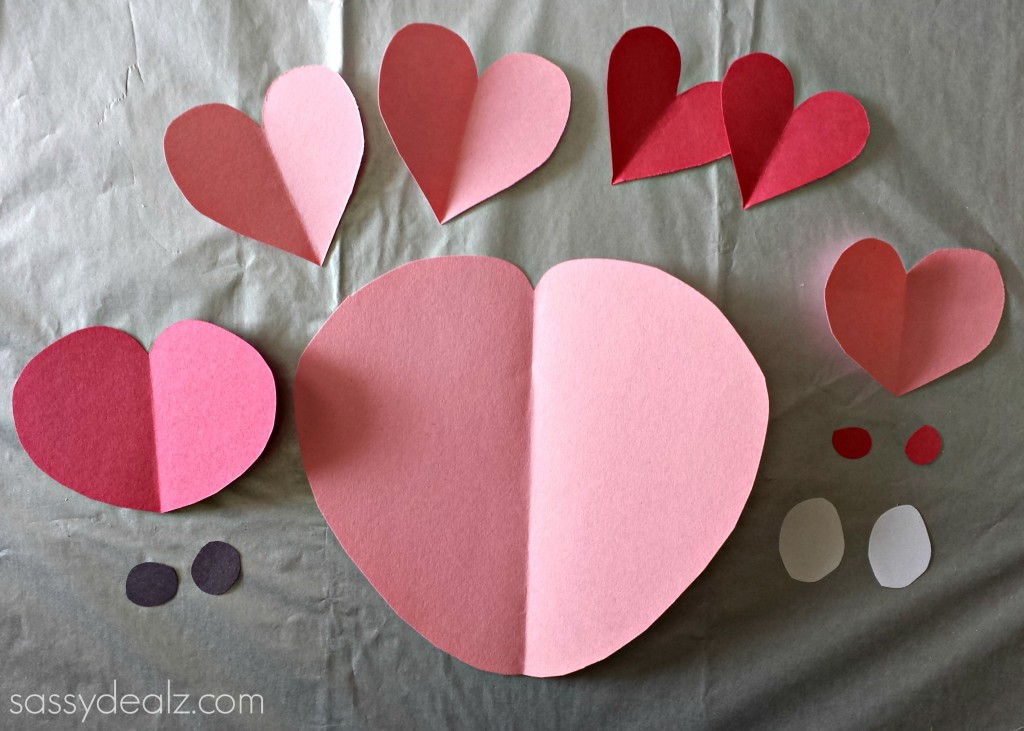 heart pig craft