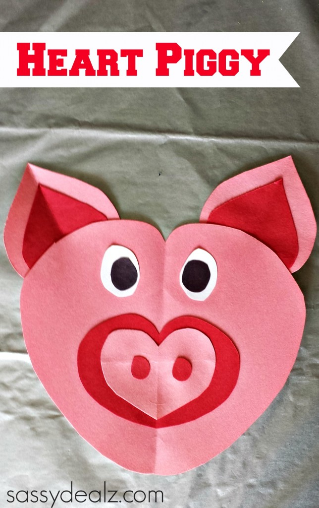 heart pig craft for kids - Pictures Of Crafts For Kids