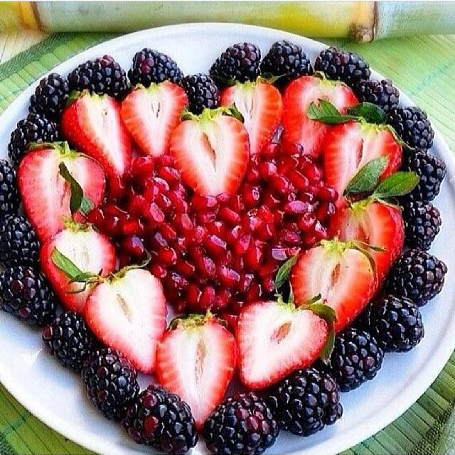 fruit heart dessert
