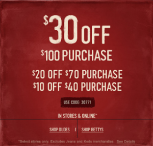 Hollister: $30 off $100, $20 off $70, or $10 off a $40 Purchase w/ Promo Code (Exp 11/26)