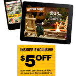 Home Depot – $5 off a $50 Purchase Printable Coupon
